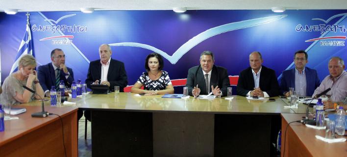 Συνεδρίαση της Κ.Ο. των ΑΝΕΛ -Φωτογραφία: EUROKINISSI/ΓΙΩΡΓΟΣ ΚΟΝΤΑΡΙΝΗΣ