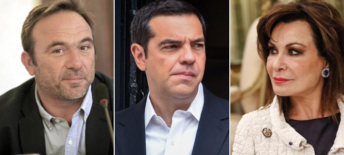 Ο Πέτρος Κόκκαλης, ο Αλέξης Τσίπρας και η Γιάννα Αγγελοπούλου