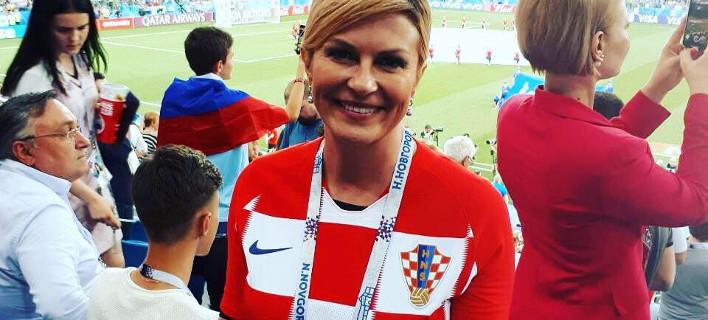 Η 50χρονη Koλίντα Γκραμπάρ-Κιτάροβιτς δεν έχει την εμφάνιση μιας συνηθισμένης προέδρου, φωτογραφία: facebook KolindaGrabarKitarovic