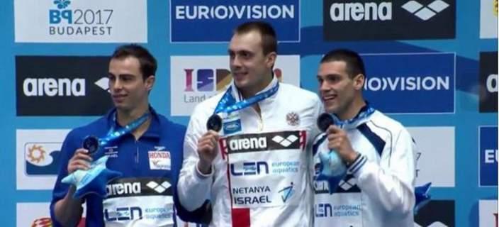 Χάλκινο μετάλλιο για τον Ανδρέα Βαζαίο στο Ευρωπαϊκό Πρωτάθλημα κολύμβησης