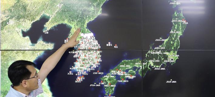 Μετασεισμοί από την πυρηνική δοκιμή της Β. Κορέας (Φωτογραφία αρχείου: AP/ Lee Jin-man)