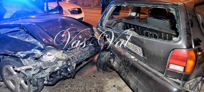 Μεθυσμένος οδηγός τράκαρε με έξι αυτοκίνητα. Φωτογραφία: korinthostv