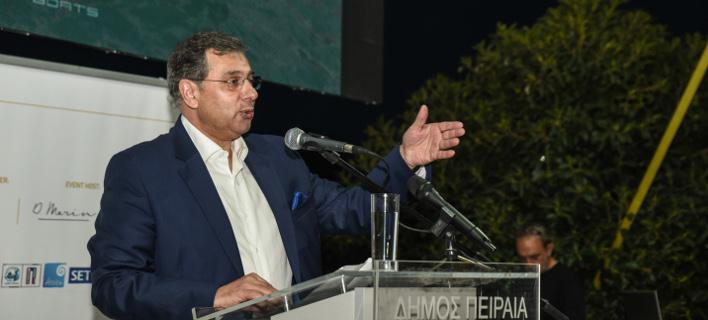Ο πρόεδρος του ΕΒΕΠ, Βασίλης Κορκίδης/Φωτογραφία: Eurokinissi