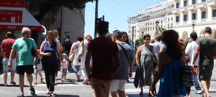 Στιγμιότυπο από το κέντρο της Θεσσαλονίκης-Φωτογραφία: Eurokinissi/Φανή Τρυψάνη