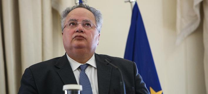 Ο υπουργός Εξωτερικών, Νίκος Κοτζιάς -Φωτογραφία: George Vitsaras / SOOC