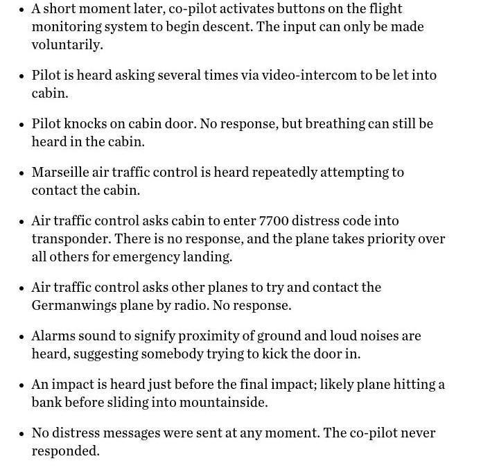 Ανατριχιαστικό!! Δείτε τι έγινε τα τελευταία 30 λεπτά της μοιραίας πτήσης σύμφωνα με το μαύρο κουτί