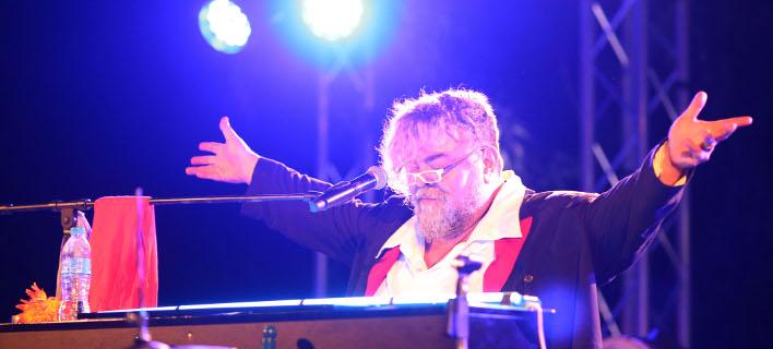 Ο γνωστός συνθέτης εν δράσει στη Λαχαναγορά / Φωτογραφία: NDP