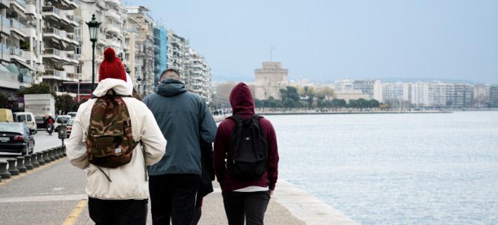 κρύο στη Θεσσαλονίκη/Φωτογραφία: Eurokinissi