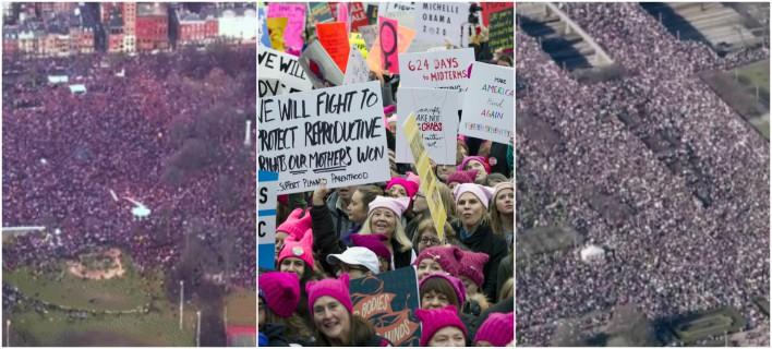 Ουάσινγκτον: 500.000 άνθρωποι στην πορεία γυναικών κατά Τραμπ
