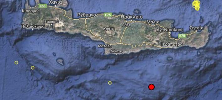 Σεισμική δόνηση 4,3 Ρίχτερ νότια της Κρήτης [εικόνες]