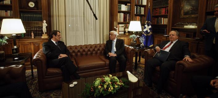 Παυλόπουλος σε Αναστασιάδη: Αδιανόητο να υπάρξει λύση που δεν σέβεται το Διεθνές Δίκαιο [εικόνες]