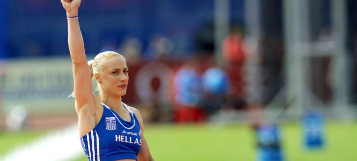 Η Νικόλ Κυριακοπούλου επιστρέφει στους αγώνες (Φωτογραφία: EUROKINISSI/ACTION IMAGES)
