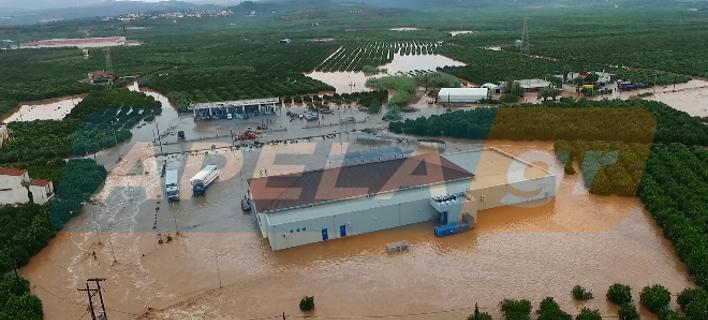 Πλημμύρισε η Λακωνία -Η δραματική διάσωση 25 ανθρώπων από σούπερ μάρκετ [εικόνες]