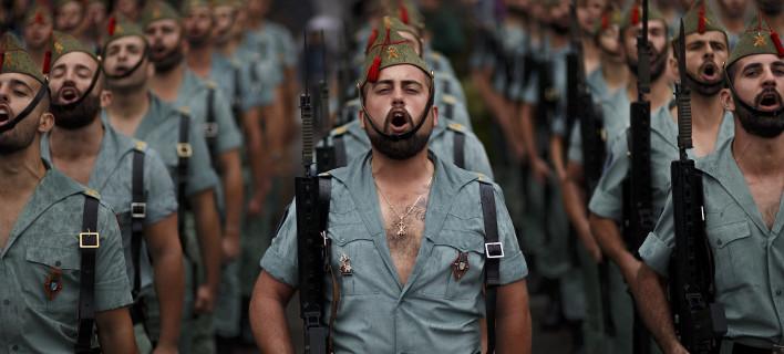 Μέλη του φημισμένου Συντάγματος Πεζικού La Legion (Φωτογραφία: ΑΡ)