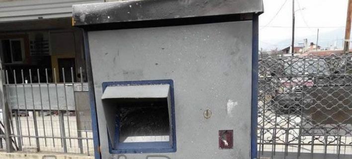 Λαμία: «Σήκωσαν» τον αυτόματο πωλητή εισιτηρίων από το ΤΕΙ -Βρέθηκε κατεστραμμένος σε χωράφι [εικόνες]