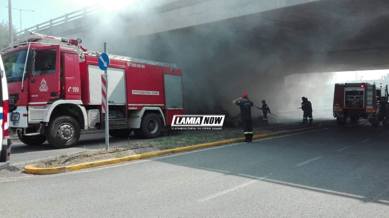 Η πυροσβεστική έσβησε την φωτιά ενώ δεν κινδύνευσε κανείς.