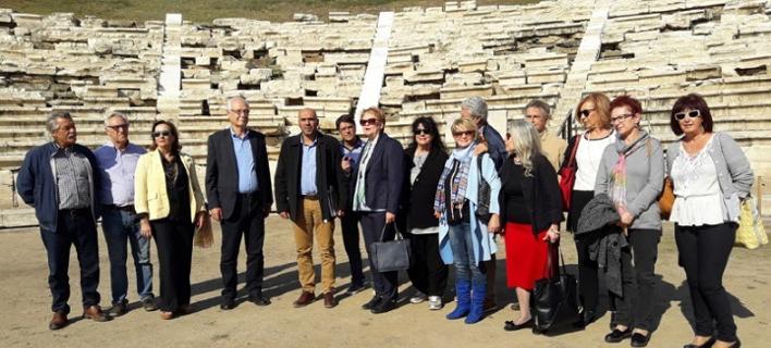 Στο αρχαίο θέατρο της Λάρισας ο Κώστας Στρατής, φωτογραφία: ΑΠΕ-ΜΠΕ
