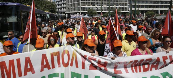 Απεργούν το Σάββατοκύριακο οι συμβασιούχοι σε όλο τον νομό Λάρισας/ Φωτογραφία: ΣΤΕΛΙΟΣ ΜΙΣΙΝΑΣ/Eurokinissi