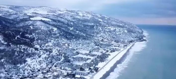 """Μαγευτική εικόνα της Βελίκας από ψηλά / Φωτογραφία: Facebook/""""dronEye productions"""""""