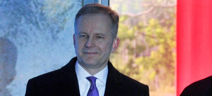 Ο κεντρικός τραπεζίτης της Λετονίας Ίλμαρς Ρίμσεβικς/ Φωτογραφία: ΑΡ