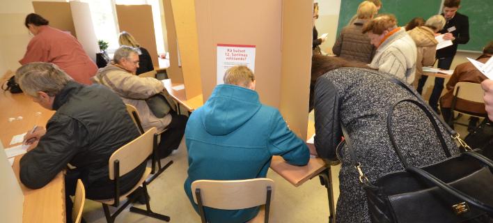 Εκλογές στη Λετονία σήμερα/ Φωτογραφία αρχείου: AP