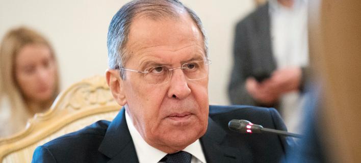 Ο Ρώσος υπουργός Εξωτερικών, Σεργκέι Λαβρόφ  (Φωτογραφία: ΑΡ)