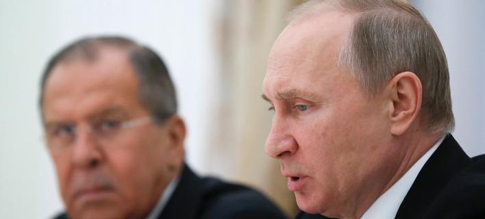 Σεργκεϊ Λαβρόφ-Βλαντιμίρ Πούτιν/Φωτογραφία: AP
