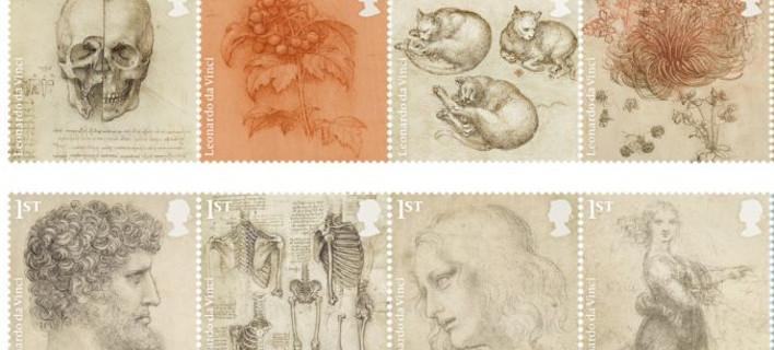 Γραμματόσημα τα σχέδια του Λεονάρντο Ντα Βίντσι