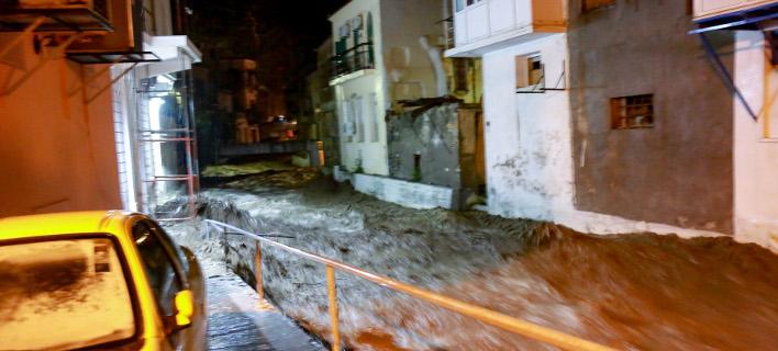 κακοκαιρία στη Λέσβο/Φωτογραφία: IntimeNews