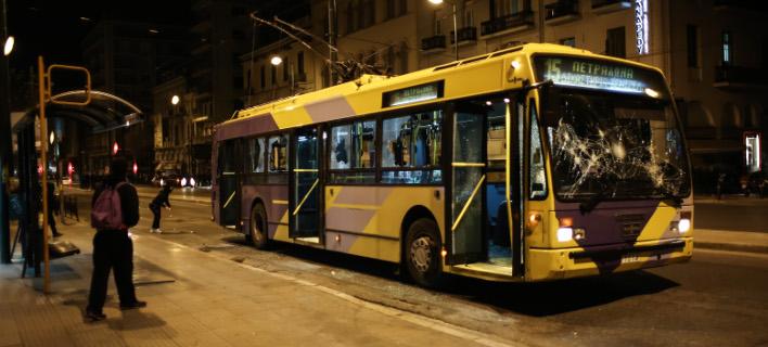 Οργανωμένο σχέδιο καταστροφών στα Μέσα Μεταφοράς -Σε 5 ώρες έγιναν στόχος 10 λεωφορεία και 8 τρόλεϊ