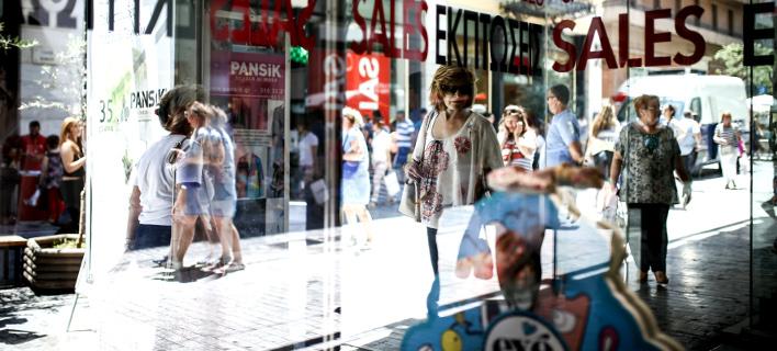 Καταστήματα σε περιόδο εκπτώσεων/Φωτογραφία: Eurokinissi