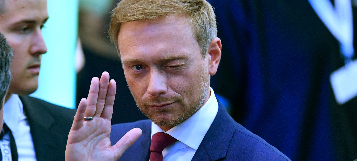 Ο Κρίστιαν Λίντερ των Φιλελεύθερων. AP Photo/Martin Meissner