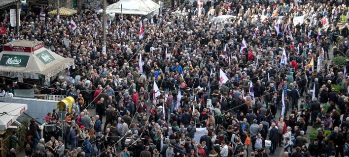 Στο επίκεντρο του γερμανικού τύπου βρέθηκε η χθεσινή γενική απεργία/ Φωτογραφία: Eurokinissi