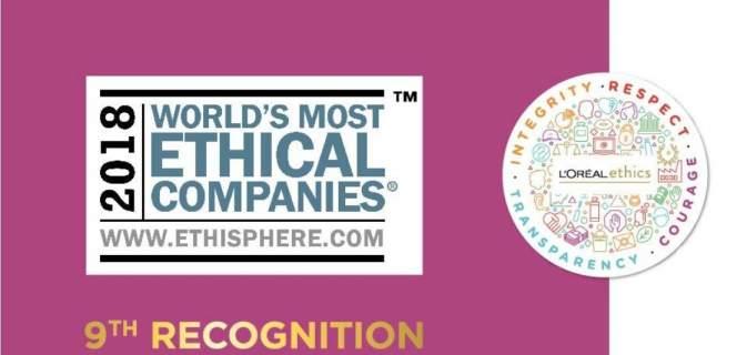 Η L' Oreal στις πιο Ηθικές Εταιρείες Παγκοσμίως