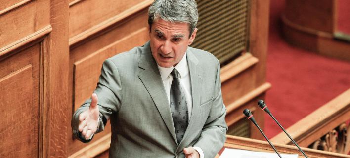 Ο κ. Λοβέρδος επιτέθηκε στην κυβέρνηση για τη στάση της στις Σκουριές (Φωτογραφία: EUROKINISSI/ΓΙΩΡΓΟΣ ΚΟΝΤΑΡΙΝΗΣ)