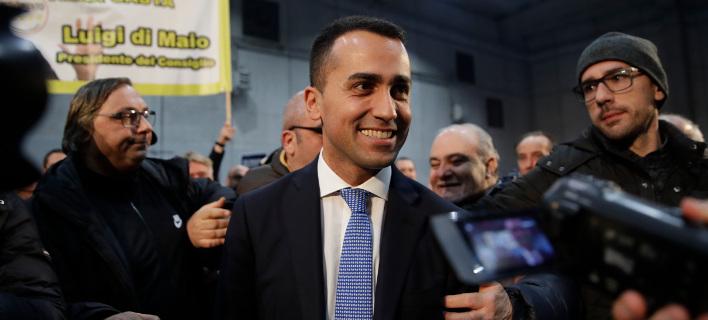 Φαβορί στις ιταλικές εκλογές το Κίνημα 5 Αστέρων του Λουίτζι ντι Μάιο -Ισως επιδιώξει μεγάλο συνασπισμό