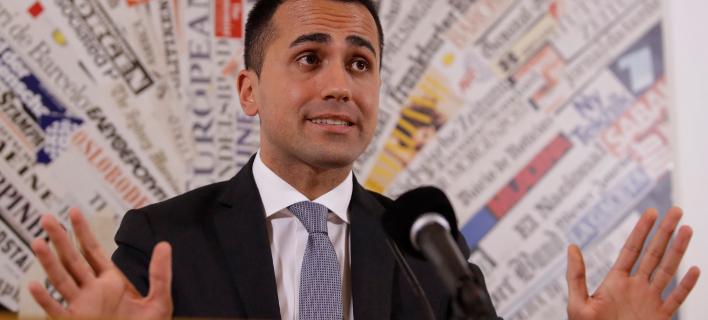 Ο ηγέτης του ευρωσκεπτικιστικού M5s, Λουϊτζι ντι Μάιο (Φωτογραφία: ΑΡ)