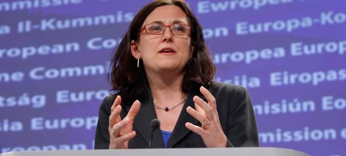 H Σεσίλια Μάαλστρομ η επίτροπος Εμπορίου στην ΕΕ/Φωτογραφία: AP