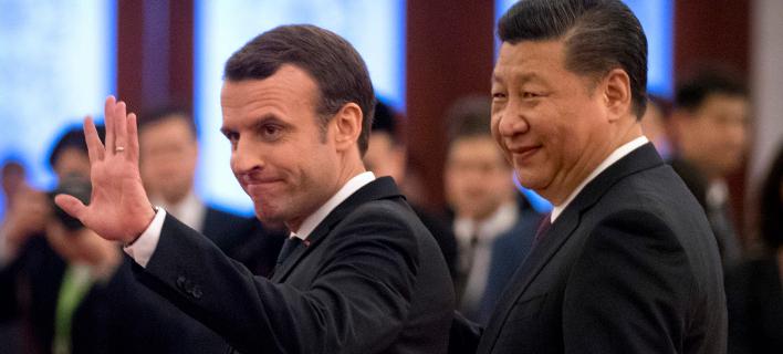 Επίσκεψη Μακρόν στην Κίνα, Φωτογραφία: AP