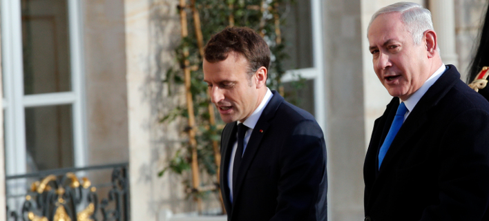 O Γάλλος πρόεδρος και ο Ισραηλινός πρωθυπουργός συζήτησαν από τηλεφώνου (Φωτογραφία: ΑΡ)