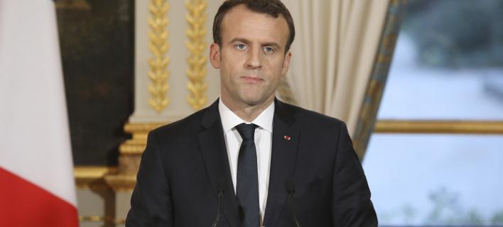 Ο Εμανουέλ Μακρόν (Φωτογραφία: AP/ Ludovic Marin)