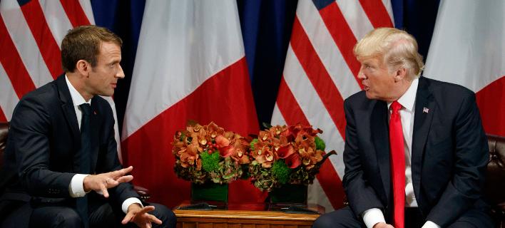 Ντόναλντ Τραμπ-Εμανουέλ Μακρόν, Φωτογραφία: AP