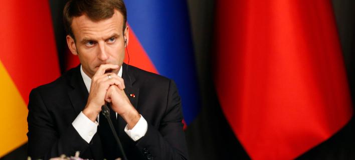 Ο πρόεδρος της Γαλλίας, Εμανουέλ Μακρόν (Φωτογραφία: AP/Lefteris Pitarakis)