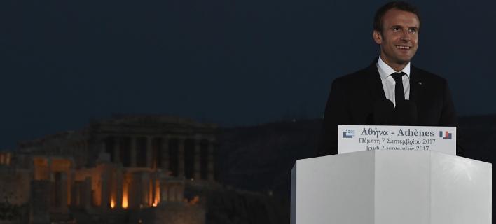 Μακρόν: Το κουράγιο και η αξιοπρέπεια των Ελλήνων, προκαλούν τον σεβασμό
