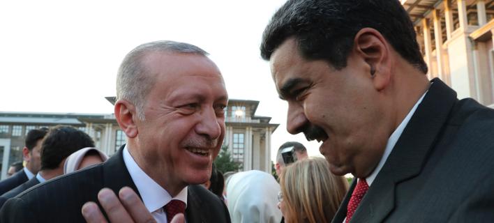 Ερντογάν-Μαδούρο/Φωτογραφία: AP