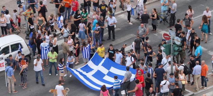 Συγκέντρωση για τη Μακεδονία/Φωτογραφία: Eurokinissi/ΦΑΝΗ ΤΡΥΨΑΝΗ