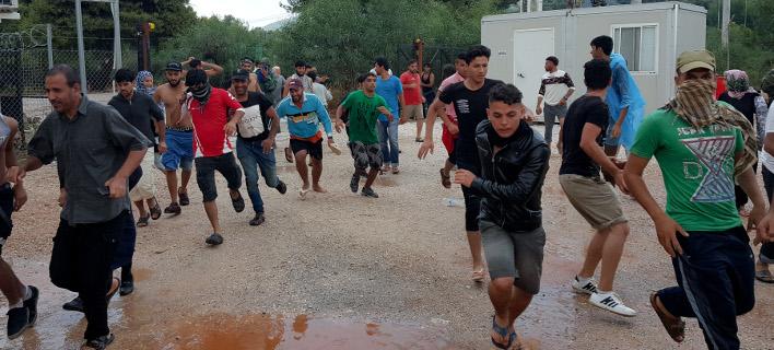 Επεισόδια με έναν νεκρό και 8 τραυματίες στο hotspot Μαλακάσας -Φωτογραφία αρχείου: Intimenews/ΜΑΚΡΗΣ ΑΡΓΥΡΗΣ