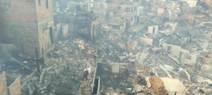 Τρομακτική πυρκαγιά σε φτωχή συνοικία