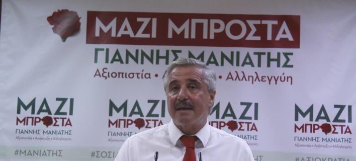 Ο Γιάννης Μανιάτης κατέθεσε τις απαιτούμενες υπογραφές για την υποψηφιότητά του -Φωτογραφία:EUROKINISSI / ΒΑΣΙΛΗΣ ΠΑΠΑΔΟΠΟΥΛΟΣ