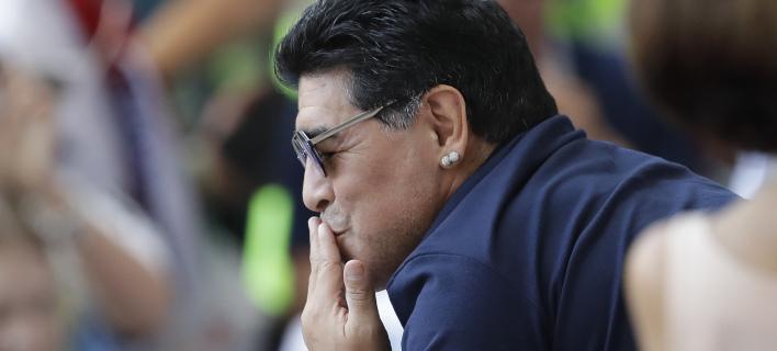 Ο Ντιέγκο Μαραντόνα (Φωτογραφία: AP/ Sergei Grits)